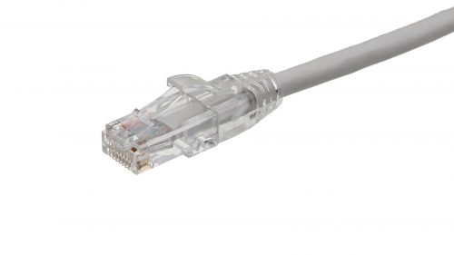 CAT5e Cable – Clear Plug, Snagless, with Boot White