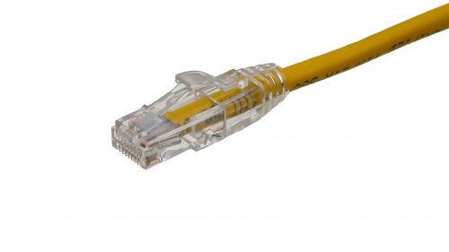 CAT5e Cable – Clear Plug, Snagless, with Boot Yellow