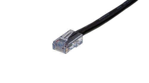 CAT5e Cable – Sentinel®Plug, Non-Snagless, Non Booted Black