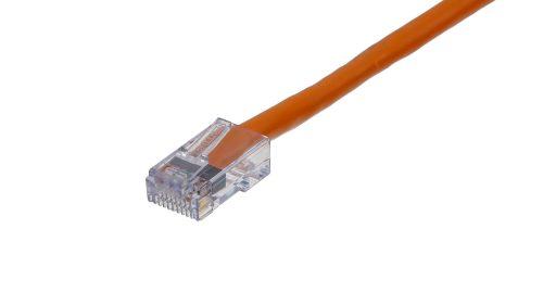 CAT5e Cable – Sentinel®Plug, Non-Snagless, Non Booted Orange