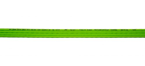 "CAT6A 28AWG Ribbon x4 Step Length (1.75"") 10G Cable – FlexLite™ UFTP OD 5.2mm 550MHZ Soft PVC Shrek Green Marking"