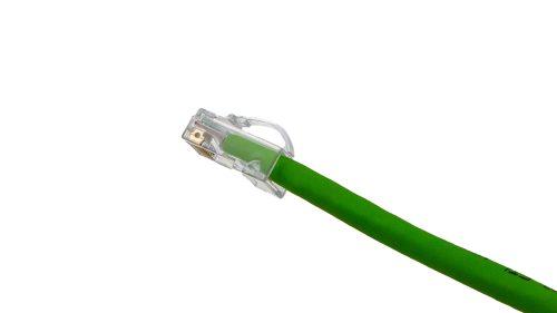 Arch Latch RJ45 connectors CAT6 Soft PVC Cable – Round UTP Shrek Green