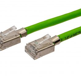 CAT6A 28AWG 10G Cable – FlexLite™ UFTP OD 5.2mm Soft PVC With STP Short Plug Shrek Green