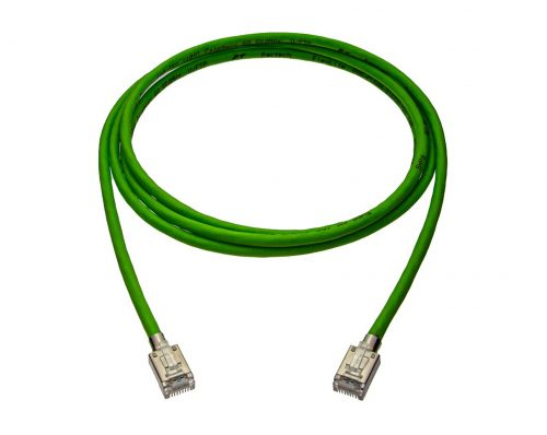 CAT6A 28AWG 10G Cable – FlexLite™ UFTP OD 5.2mm Soft PVC With STP Short Plug Shrek Green Cable