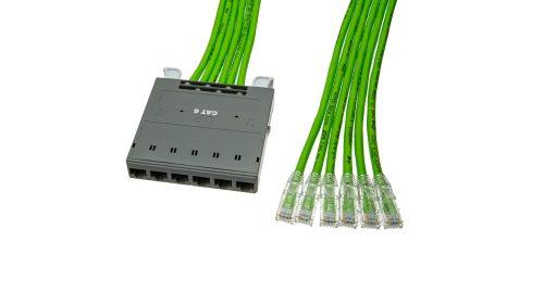 FlexNet CAT6 UTP Port Cassette to Plug Modules