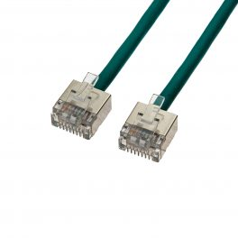 CAT6 28AWG Cable – FlexLite™ FUTP Soft PVC With STP Short Plug Green