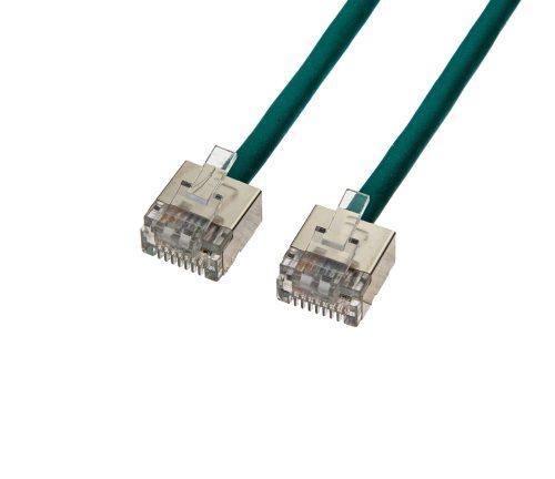 CAT6 28AWG Cable – FlexLite™ FUTP Soft PVC With STP Short Plug Green