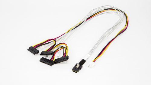 Amphenol Mini SAS 36P to SAS 29P x 4 with HSG Power Cable 1