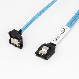 Amphenol SATA III 26 AWG Cable Connectors (Straight to Right with Latch)