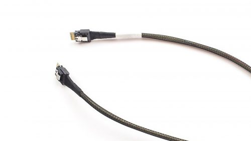 Amphenol 24G Internal SlimSAS SFF-8654 4i STR 38Pos to 8654 4i STR 38Pos Cable, SAS 4.0, 100ohm