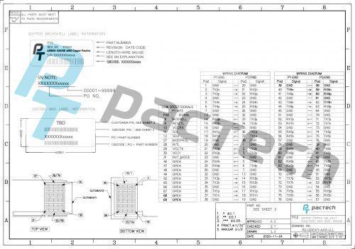DAC 200G/400G QSFP DD Passive Twinax Cable
